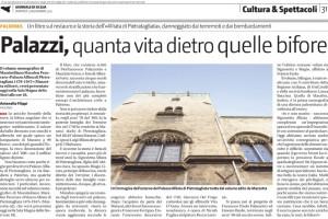 Palazzo Alliata di Pietratagliata - articolo Giornale di Sicilia