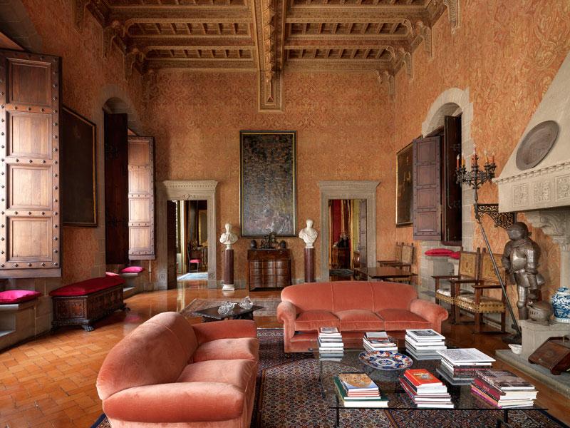 interni della dimora Palazzo Alliata di Pietratagliata, foto di M. Listri
