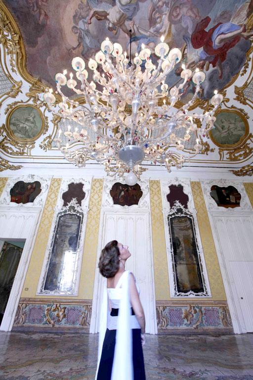 Signoretta Alliata nella dimora Palazzo Alliata di Pietratagliata, foto di Alessandro-Belgioiso