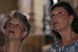 Simonetta Agnello Hornby e Signoretta Alliata durante la trasmissione Io & George